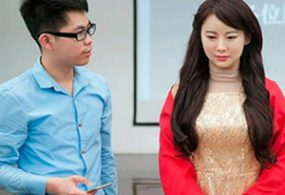 Chinese inventors' unveils Jia Jia, China's first interactive human-like 'robot goddess'