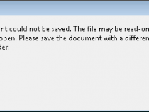 Acrobat document could not be saved – Fixed