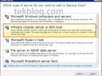 Add VMware ESX host to Symantec Backup Exec and backup to Tape and Storage