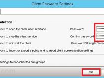 How to setup client password-protecting in Symantec Endpoint Protection Manager