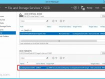 Enable iSCSI Target server role and configure in Windows Server 2012