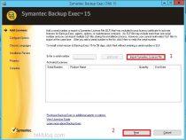 Install license Symantec Backup Exec 2015