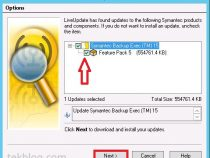 Configure and install LiveUpdate on Symantec Backup Exec 15