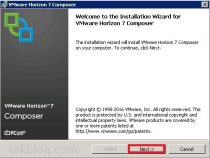 Installing Horizon View Composer on Horizon View 7