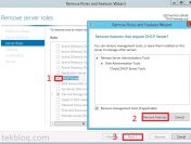 Remove DHCP server role on Windows Server 2012 R2