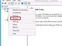 DHCP server Backup and Restore on Windows server 2012 r2