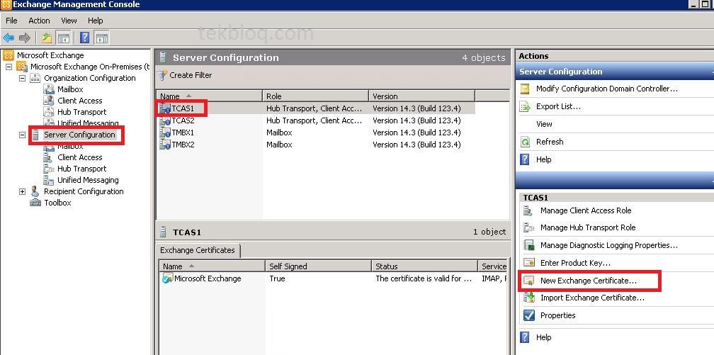 Create Certificate For Exchange 2010 Servers Using Windows Ca Tekbloq